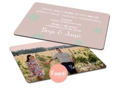Egyszerű, fényképes esküvői meghívó | Sample photo wedding invitation