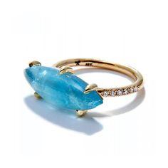 Jordan Alexander marquise aquamarine ring