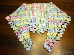 Blanket Shawl, Crochet Shawls And Wraps, Kerchief, Crochet Patterns, Crochet Ideas, Crochet Projects, Diy And Crafts, Knitting, Pasta