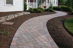Paver walkway you can add paving stone designs you can add outdoor walkway pavers you can add walkway designs you can add brick paver patio designs Brick Paver Patio, Outdoor Walkway, Paver Walkway, Concrete Patio, Stamped Concrete, Paver Edging, Decorative Concrete, Garden Paving, Patio Flooring
