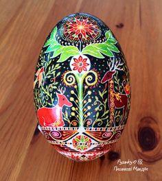 Goose egg by Tetyana Solotska, Pysanky Japan
