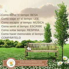 valioso tiempo! #aBrillargente #clasesyeventosparasolteros #meetandshine