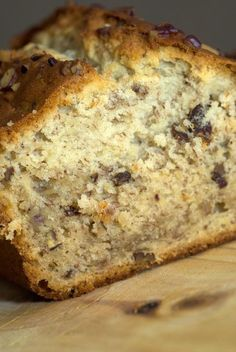 Cream Cheese Banana Nut Bread  --    ***Makes 2 loaves***  3/4 c. butter, softened  1 (8 oz.) pkg. cream cheese, softened  2 c. sugar  2 large eggs  3 c. all-purpose flour  1/2 tsp. baking powder  1/2 tsp. baking soda  1/2 tsp. salt  1 1/2 cups mashed bananas   1 cup roughly chopped pecans, toasted  1/2 tsp. vanilla extract  --    Beat butter & cream cheese at medium speed until creamy. Gradually add sugar, beating until light & fluffy. Add eggs, 1 at a time, beating just until blended.