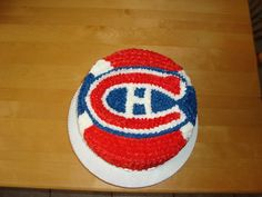 Sports (Hockey) Cake Cupcake Birthday Cake, Cupcake Cakes, Cupcakes, Hockey Cakes, Cookie Designs, Chicago Cubs Logo, Amazing Cakes, Cake Ideas, Muffins