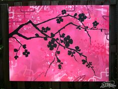 pink Cherry Blossom silhouette