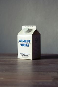 """This packaging of """"Absolut"""" is the opposite of the classic design.The visual impact is high insofar that milk bottled Vodka in the middle of alcohol shelves is not common.Without any doubt, the product will be seen by all customers.But what does this positioning want to express?Absolut wants probably to change the rules by joining """"responsible consumption"""".The graphology and the design are the same, very classic.""""Absolut"""" is looking for creativity to be differentiated,but it could be…"""