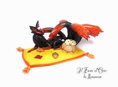 Nine-tailed Fox  Ugajin. OOAK fantasy sculpture of di ilFioredOro