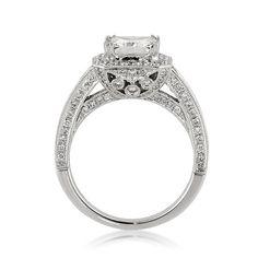 3.13ct Princess Cut Diamond Engagement Anniversary by MarkBroumand