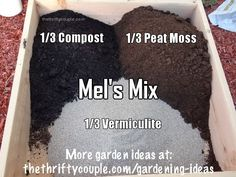 Best and most nutrient rich soil mixture for gardening. Best soils for square foot or rasied bed gardening, container gardening, vertical gardening and companion gardening. This is called Mel's Mix from Mel Bartholomew from Sq. Foot Gardening.