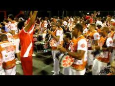 Warming up the drums for the parade of the schools of samba, in Rio de Janeiro's carnival (february). This is Salgueiro, winner of 2011
