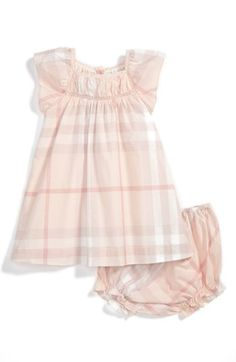 Perfect Burberry for baby... would love to get my hands on one of these!  |  Burberry 'Vivienne' Dress (Baby Girls) | Nordstrom