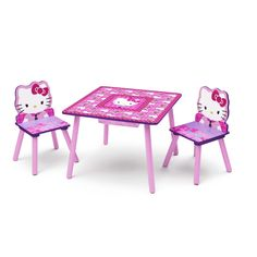 Hello Kitty Table & Chairs Set with Storage by Delta Children (Pink), Multi