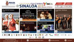 Cartelera del Festival Cultural Sinaloa 2016, Una Nueva Época #ElFuerte