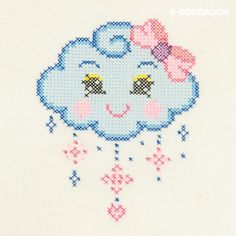 Cross Stitch Fluffy Cloud Embroidery Pattern (code Cross Stitch For Baby, Toddler C . Small Cross Stitch, Butterfly Cross Stitch, Cross Stitch Borders, Cross Stitch Baby, Cross Stitch Flowers, Cross Stitch Kits, Cross Stitch Charts, Cross Stitch Designs, Cross Stitch Patterns