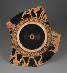 """Exterior / Attic Red-Figure Kylix,"" Douris (Greek (Attic), Kleophrades (Greek (Attic), Athens, Greece, about 490 B.C. Terracotta. J. Paul Getty Museum. 
