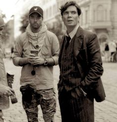 Director Sean Ellis and Cillian Murphy on the set of Anthropoid. (More behind the scenes in cillianmurphy.stars.bz gallery)