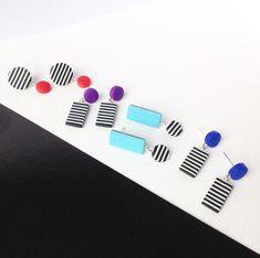 Handmade polymer clay earrings,modern stud earrings,statement earrings,dangle drop earrings .