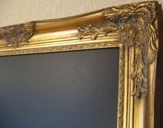 FRAMED CHALKBOARDANY ColorGold34x28 Large Ornate by shabbymcfabby, $195.00