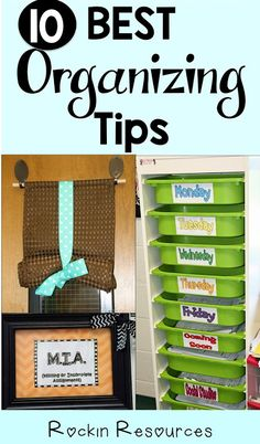 Rockin Resources: 10 Best Organizing Tips for the Classroom