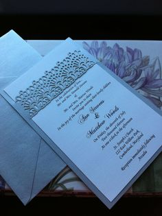 Elegant Lace  Wedding Invitation lasercut & by CelineDesigns, $7.00