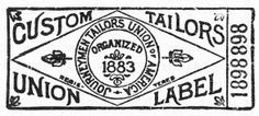 The Fedora Lounge Guide to Union Labels Vintage Logo Design, Vintage Typography, Typography Letters, Lettering, Logos, Logo Branding, Vintage Tags, Vintage Labels, Label Design