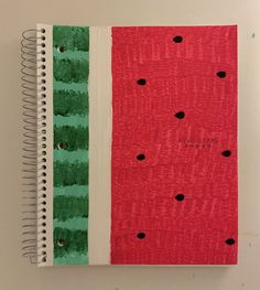 DIY Watermelon Notebook Craft Back To School Crafts For Kids, Back To School Activities, Diy For Kids, Wiggles Birthday, Tape Painting, Have Some Fun, Painted Rocks, Light In The Dark, Wind Chimes