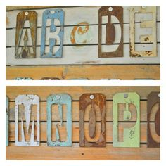 Wall Art Letters michaels metal letters painted, aged and rusted to make alphabet