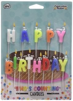Happy Birthday Candles >>> For more information, visit now : Christmas Luggage and Travel Gear