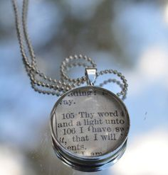 This is a necklace that I made in my Etsy shop. Psalms 119:105 $18 www.kraftykash.net #etsy #handmade
