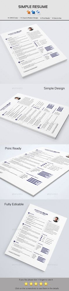 Resume Job letter, Simple resume and Cv design - a simple resume