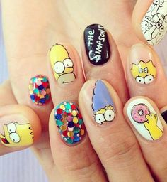 Nail art Simpson