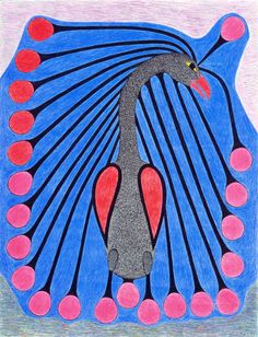 Bird with Long Plumes, by Kenojuak Ashevak (Inuit artist)