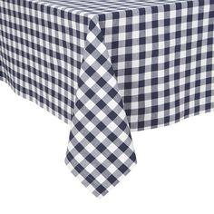 KAF Home Buffalo Check Tablecloth, Blue