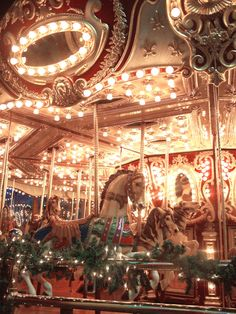 """Old School Carousel in the Arcade by Pike Place, Seattle, Washington"" 