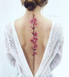 ✿ Tattoos ✿ Веточка персика