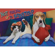 Up To Scratch Get Well Greeting Card