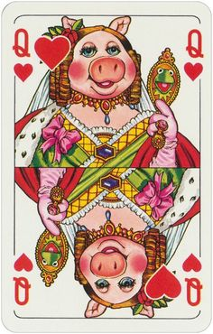A set of The Muppet Show playing cards was made by West-German company ASS Altenburger in Die Muppet Show Quartett Hearts Playing Cards, Playing Cards Art, Custom Playing Cards, Custom Deck Of Cards, Muppet Babies, Caco E Miss Piggy, Fraggle Rock, The Muppet Show, Jim Henson