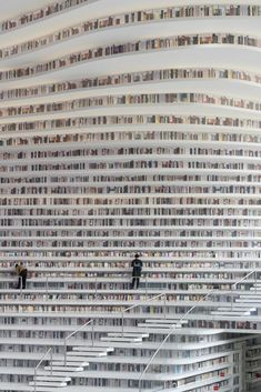 A Bookish Paradise: Ornate Library in Tianjin, China . - Bookworm Paradise: Artistic Library in Tianjin, China Bookworms usually prefer to retire to the bac - Tianjin, Beautiful Library, Dream Library, Library Books, Library Quotes, Future Library, Reading Books, Cabinet D Architecture, Library Architecture