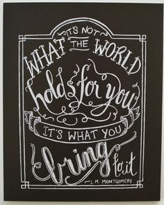 Anne of Green Gables Card  Chalkboard Art  by Sugarbirdprints, $3.75