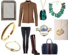 For a modern twist on the equestrian look: pair bold jewelry with classic basics.