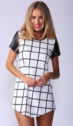 popcherry monochromatic shift dress
