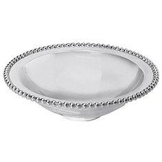 Mariposa Pearled Serving Bowl