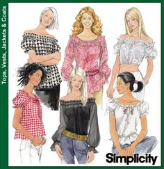 Purchase the Simplicity 5962 off shoulder and peasant tops sewing pattern and read its pattern reviews. Find other  sewing patterns.