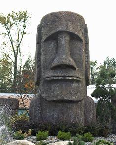 Looks like you in the morning Foam Carving, Tree Carving, Easter Island Statues, Tiki Hawaii, Tiki Head, Rockabilly Art, Tiki Totem, Vintage Tiki, Tiki Party