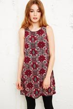 Staring at Stars Tank Dress in Scarf Print at Urban Outfitters