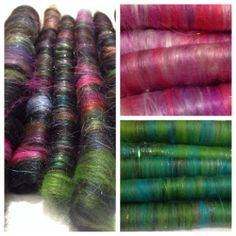 PUNI Rolags ~ Wool & fibre for Spinning & Felting