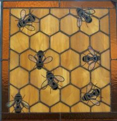 stained glass bee hive by cityfreeglass on Etsy