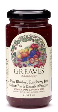 Tart Raspberries and tangy rhubarb are combined to create a simply sensational jam. Enjoy on all your favourite breads. Ingredients: Fruits (Rhubarb, Raspberries) and Sugar Aberdeen, Marmalade, Raspberries, Tart, Mason Jars, Holiday Rentals, Pure Products, Fruit, Breads