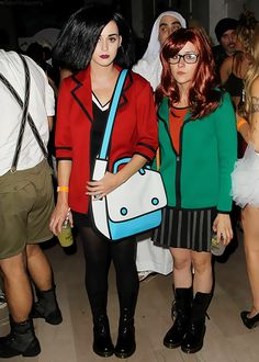 Katy Perry and Shannon Woodward (Raising Hope) Dressed as Daria and Jane.