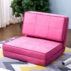 Harper U0026 Bright Designs Convertible Futon Flip Chair Sleeper Bed Couch Sofa  Seating Lounger (Pink